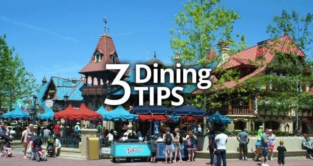 3 Disney Dining Tips