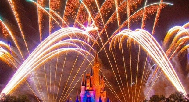 Disney Fireworks Magic Kingdom