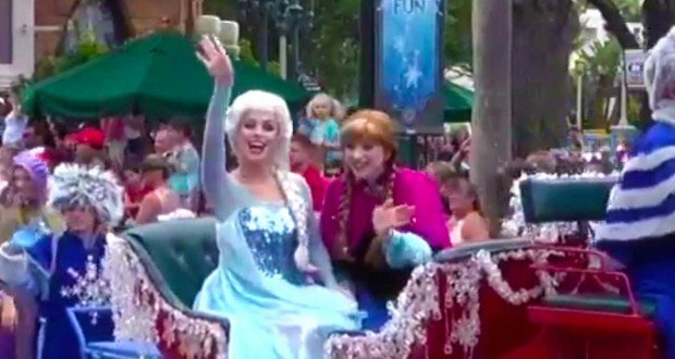 Anna & Elsa Arrive at Hollywood Studios