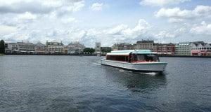 Resort Boat with Boardwalk in Distance