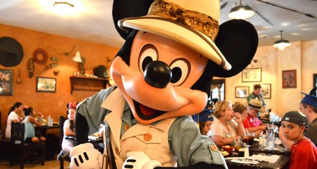 Mickey Mouse at Tusker House for Lunch - Animal Kingdom