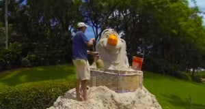Sand Sculpture Brings Olaf to Summer!