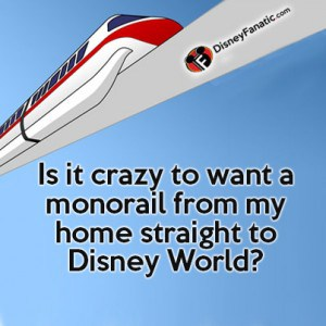 Is it crazy to want a monorail from my home straight to Disney World?
