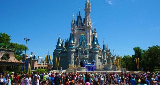 Disney castle busy