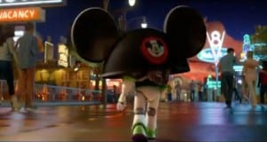 Buzz Lightyear visits Disney Land
