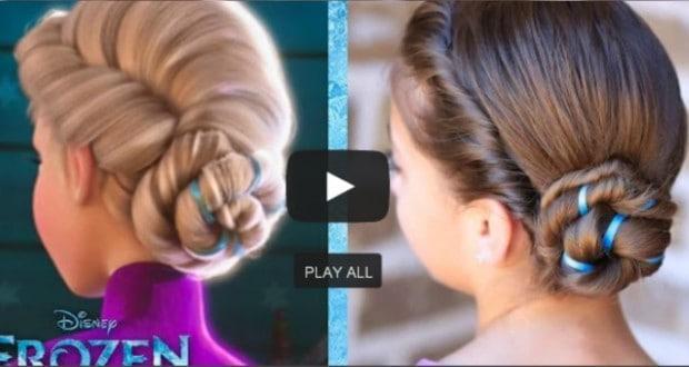 Elsa Coronation Updo