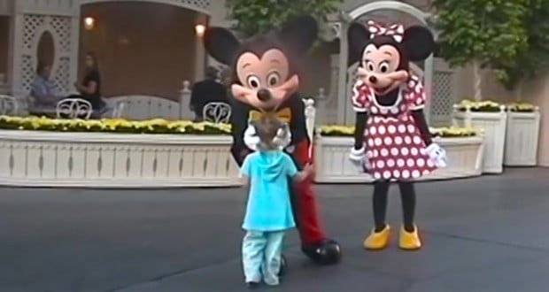 Little Girl Meets Mickey