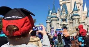 Boy Taking Photo Cinderella Castle