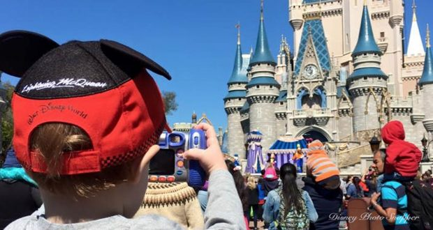 Boy Taking Photo Cinderella Castle