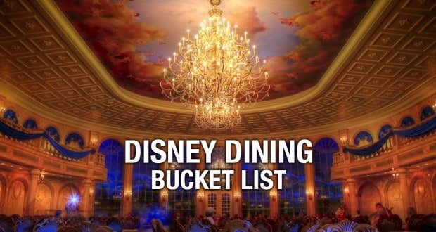 Disney Dining Bucket List