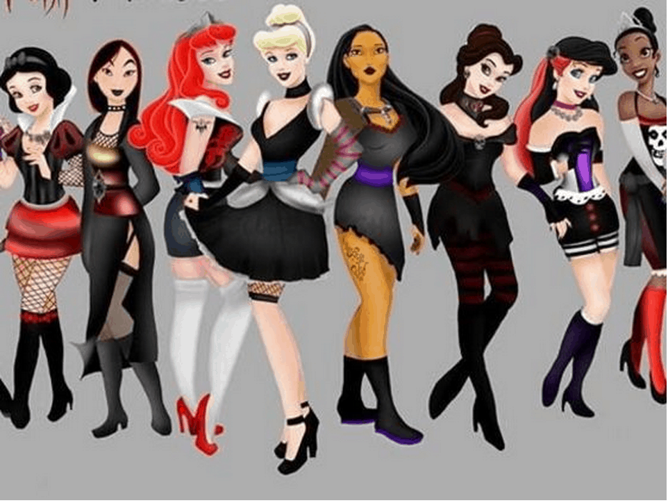a comparison of disney princesses in themes and characteristics