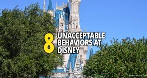 8 Unacceptable Behaviors At Disney
