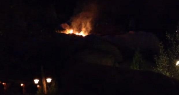 Seven Dwarf's Mine Train Fire