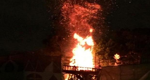 Fire At Disneyland
