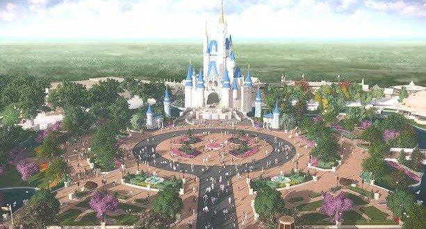 New Castle Turrets At Cinderella's Castle