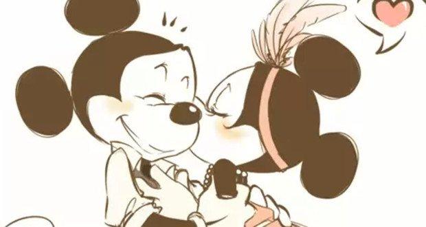 Minnie Mickey Kiss