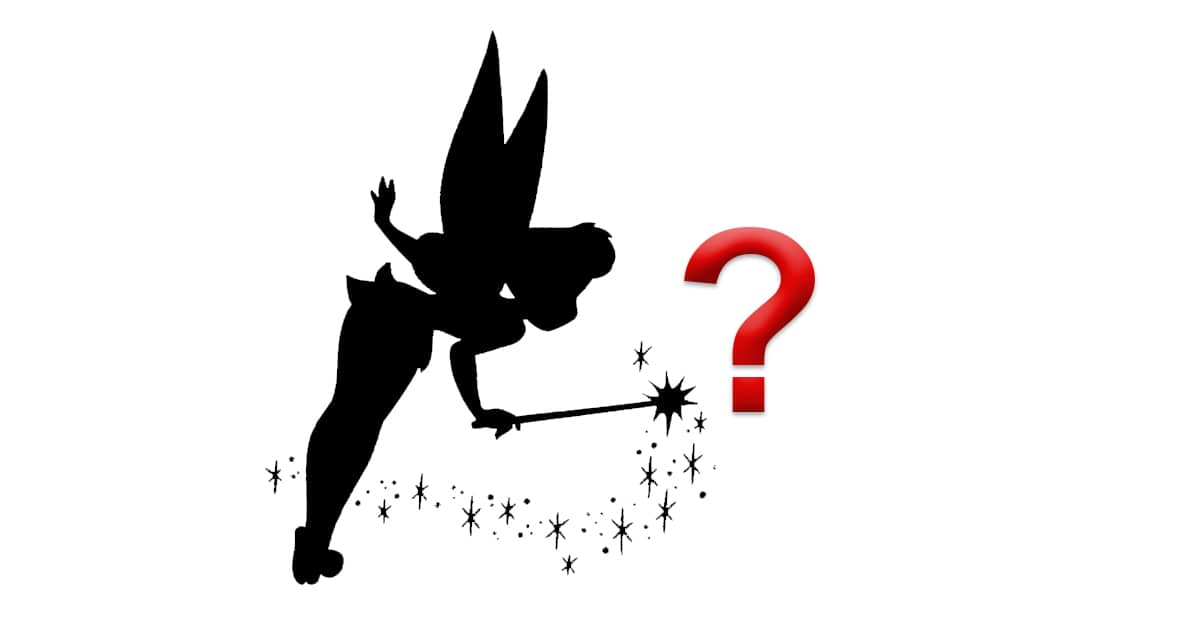 It is a graphic of Genius Disney Character Silhouettes