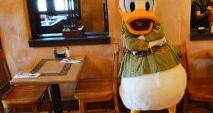Donald Duck At Tusker House Restaurant