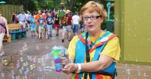 Cast Member with bubbles
