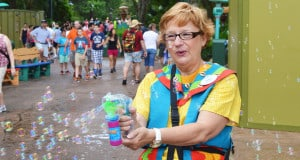 Cast Member with bubbles
