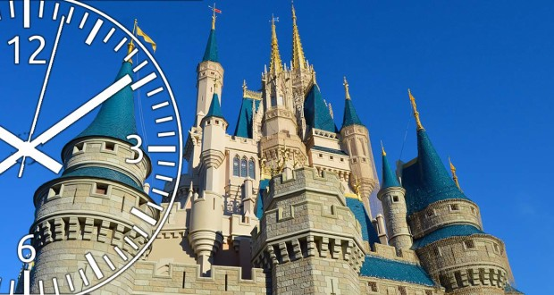 Cinderella's castle and clock