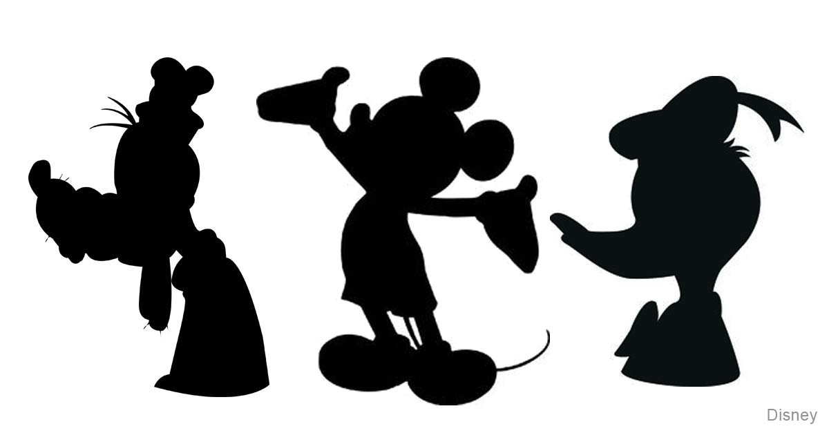 It's just a picture of Universal Disney Character Silhouettes