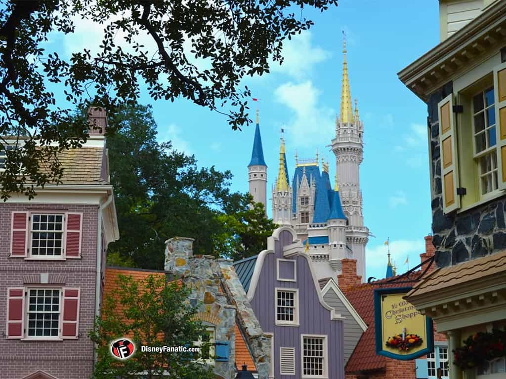 Walt Disney World Resort - Magic Kingdom - View of Cinderella Castle and Liberty Square