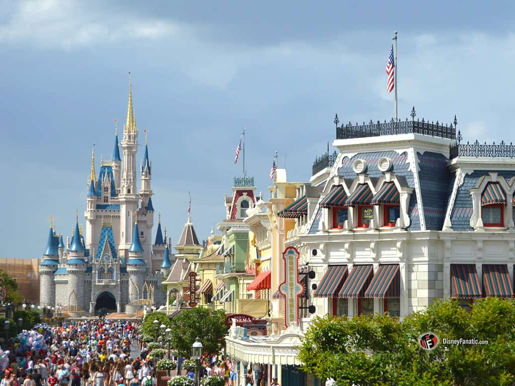 Walt Disney World Resort - Magic Kingdom - View of Cinderella Castle and Main Street USA