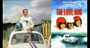 Dean Jones with Herbie the Love Bug