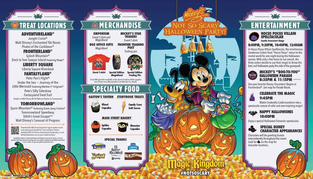mickeys not so scary halloween party guide front side