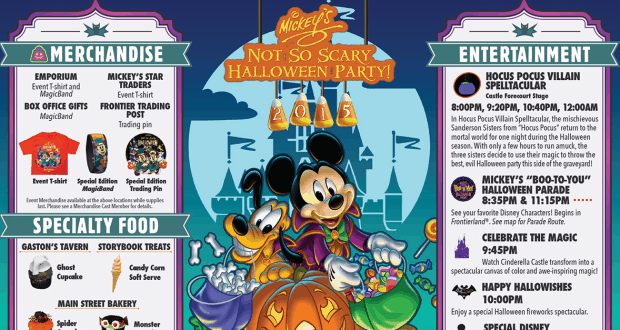 "Mickey's ""Not So Scary"" Halloween Party at Magic Kingdom Guide Map"