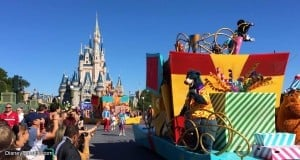 Disney Castle and Parade