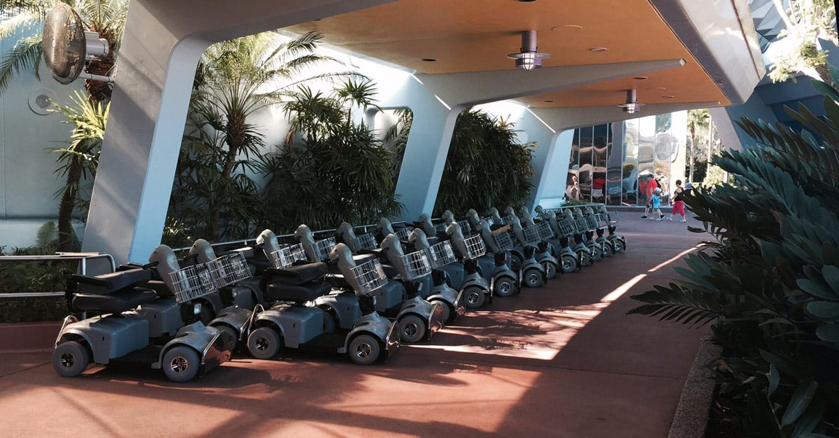 4 tips for visiting disney with a wheelchair for Motorized scooter disney world