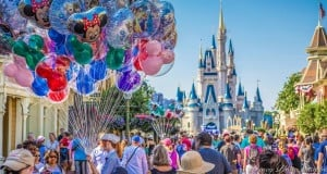 Cinderella's Castle and Balloons