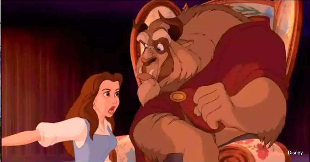 Belle and Beast Arguing