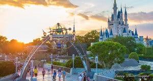 Cinderella's Castle and Tomorrowland