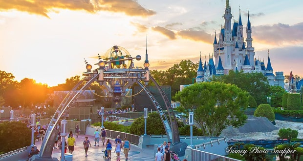 Cinderella's Castle and Tomorrowland