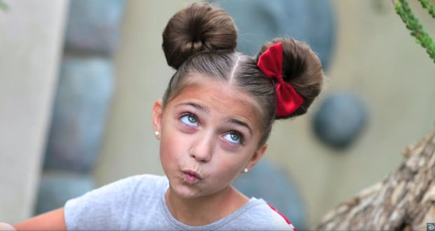 Minnie Mouse Hairstyle