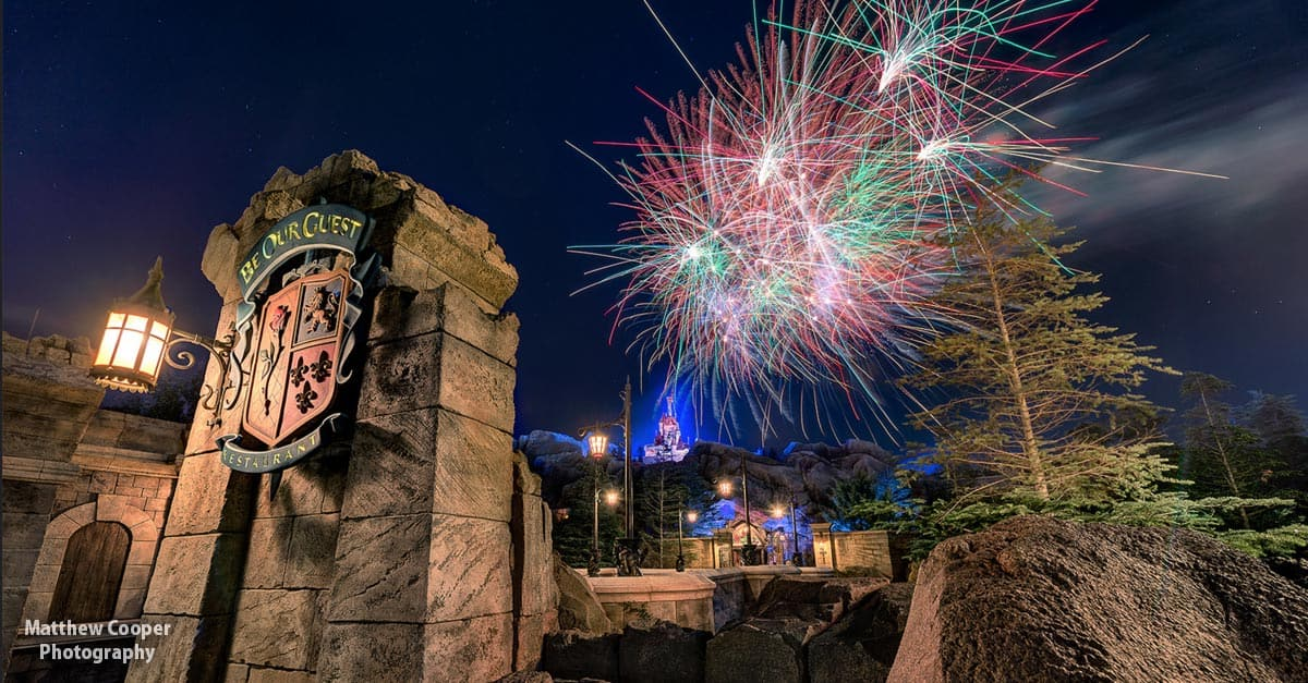 Be Our Guest Fireworks - Matthew Cooper Photography