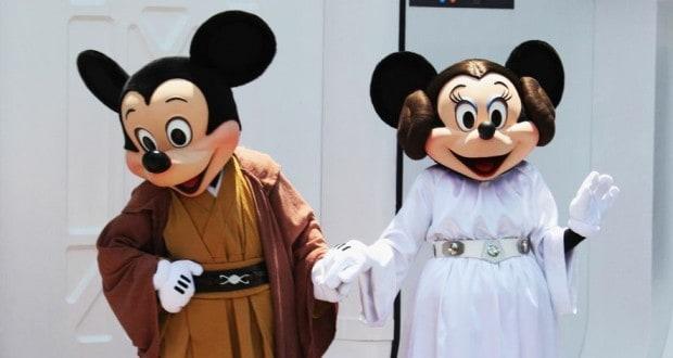 Mickey and Minnie Star Wars
