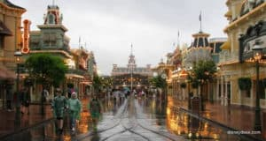 Rainy Main Street USA