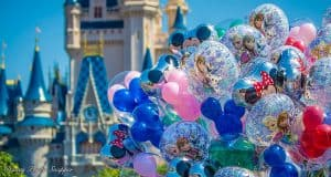 Disney Castle and Balloons