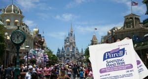 Disney Castle and hand wipes