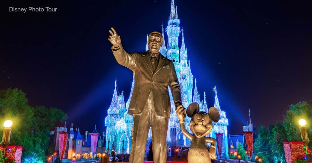 Mickey and Walt with Cinderella Castle