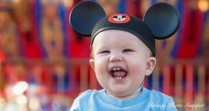 toddler with mickey ears