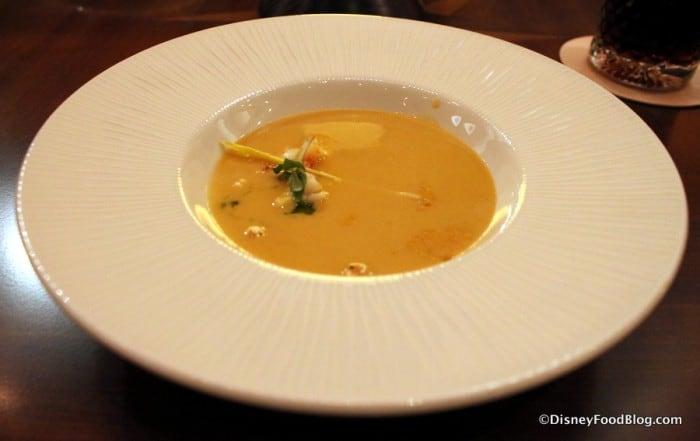 Tiffins Lobster Popcorn Thai Curry Soup