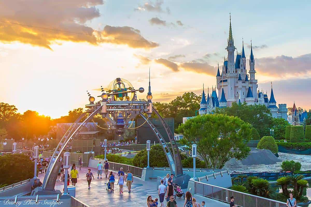 Tomorrowland and Disney Castle