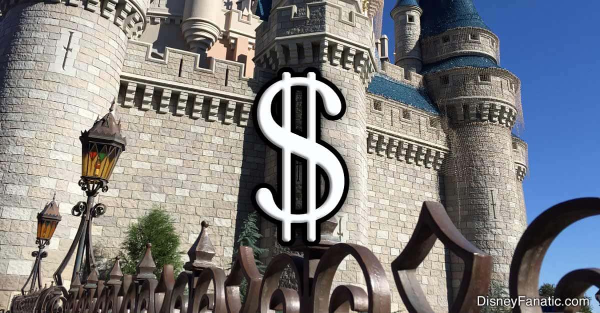 Disney Castle Dollar Sign