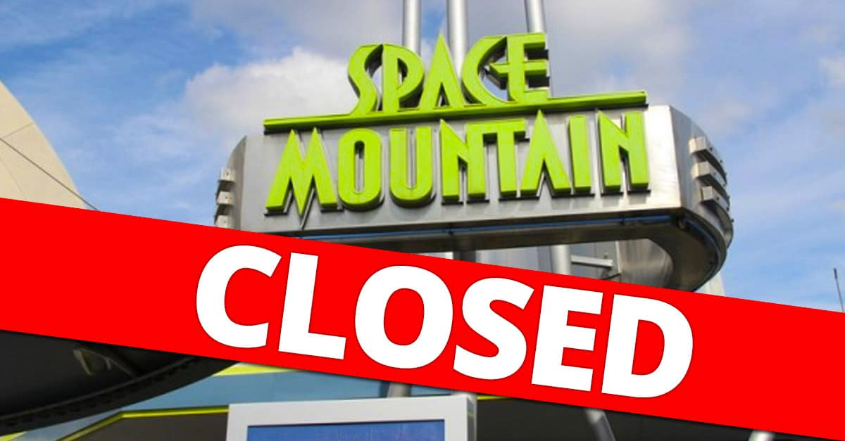 Space Mountain Closed