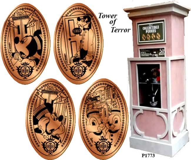 Tower of terror pressed penny